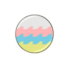 Wave Waves Pink Yellow Blue Hat Clip Ball Marker by Jojostore