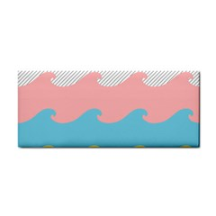 Wave Waves Pink Yellow Blue Cosmetic Storage Cases by Jojostore
