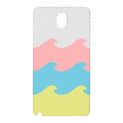 Wave Waves Pink Yellow Blue Samsung Galaxy Note 3 N9005 Hardshell Back Case by Jojostore