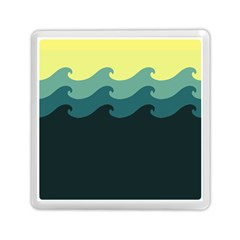 Chevron Wave Water Sea Blue Yellow Memory Card Reader (square)