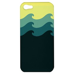 Chevron Wave Water Sea Blue Yellow Apple Iphone 5 Hardshell Case by Jojostore