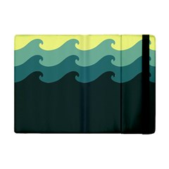 Chevron Wave Water Sea Blue Yellow Apple Ipad Mini Flip Case