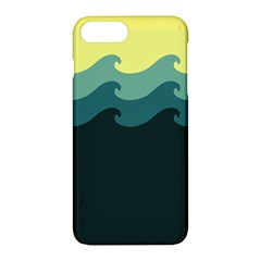 Chevron Wave Water Sea Blue Yellow Apple Iphone 7 Plus Hardshell Case
