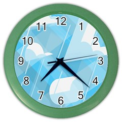 Blue Sky Color Wall Clocks by Jojostore