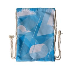 Blue Sky Drawstring Bag (small) by Jojostore