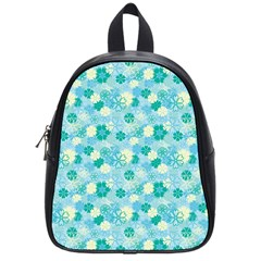 Blue Floral Flower School Bags (small)  by Jojostore