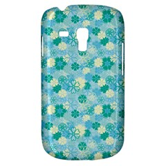 Blue Floral Flower Galaxy S3 Mini by Jojostore