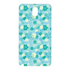 Blue Floral Flower Samsung Galaxy Note 3 N9005 Hardshell Back Case by Jojostore