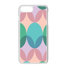 Circle Flower Apple Iphone 7 Plus White Seamless Case by Jojostore