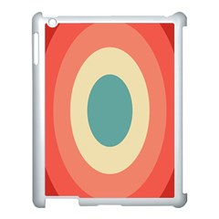 Circles Colorful Bull s Eye Apple Ipad 3/4 Case (white)
