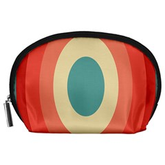 Circles Colorful Bull s Eye Accessory Pouches (large)  by Jojostore