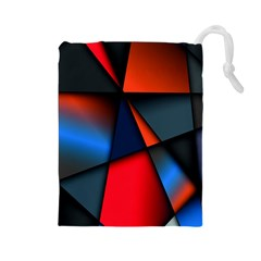 3d And Abstract Drawstring Pouches (large)  by Nexatart