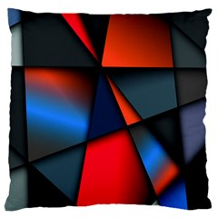 3d And Abstract Large Flano Cushion Case (two Sides) by Nexatart