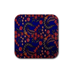 Batik Fabric Rubber Square Coaster (4 Pack)  by Jojostore