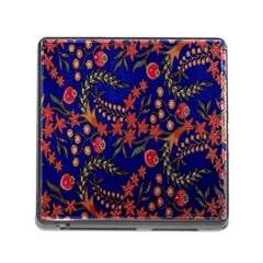 Batik Fabric Memory Card Reader (square) by Jojostore