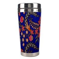 Batik Fabric Stainless Steel Travel Tumblers by Jojostore