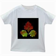 Autumn Beauty Kids White T Shirts by Nexatart