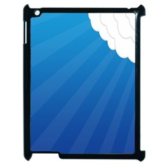 Clouds Blue Sky Apple Ipad 2 Case (black) by Jojostore