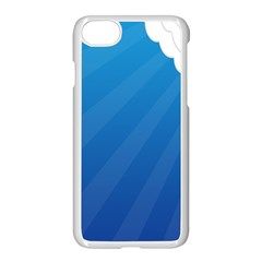 Clouds Blue Sky Apple Iphone 7 Seamless Case (white) by Jojostore