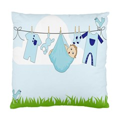 Baby Boy Clothes Line Standard Cushion Case (one Side) by Nexatart
