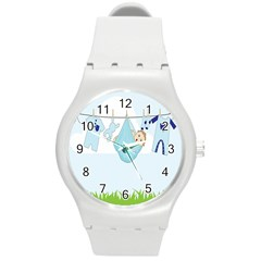 Baby Boy Clothes Line Round Plastic Sport Watch (m)
