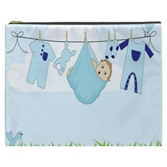 Baby Boy Clothes Line Cosmetic Bag (xxxl)  by Nexatart