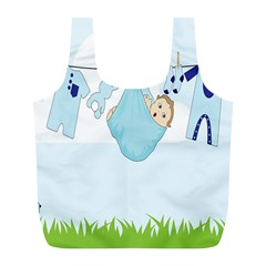 Baby Boy Clothes Line Full Print Recycle Bags (l)  by Nexatart