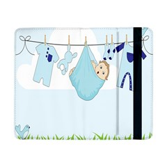 Baby Boy Clothes Line Samsung Galaxy Tab Pro 8 4  Flip Case by Nexatart