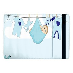 Baby Boy Clothes Line Samsung Galaxy Tab Pro 10 1  Flip Case by Nexatart