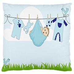 Baby Boy Clothes Line Standard Flano Cushion Case (one Side) by Nexatart