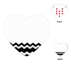 Chevrons Black Pattern Background Playing Cards (heart)  by Nexatart