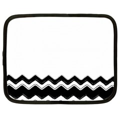 Chevrons Black Pattern Background Netbook Case (xxl)  by Nexatart
