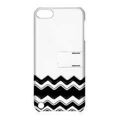 Chevrons Black Pattern Background Apple Ipod Touch 5 Hardshell Case With Stand by Nexatart