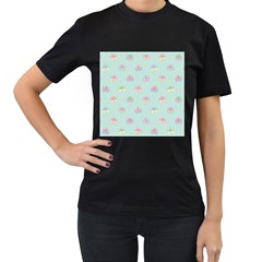 Butterfly Pastel Insect Green Women s T Shirt (black)