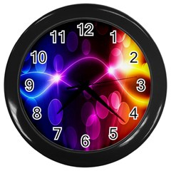 Circle Color Wall Clocks (black) by Jojostore