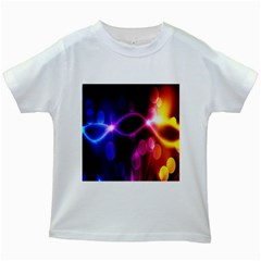 Circle Color Kids White T Shirts by Jojostore