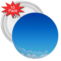 Clouds Illustration 3  Buttons (10 Pack)