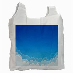 Clouds Illustration Recycle Bag (one Side)
