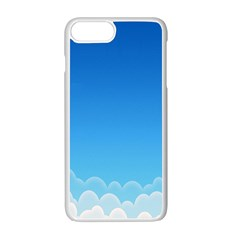 Clouds Illustration Apple Iphone 7 Plus White Seamless Case by Jojostore