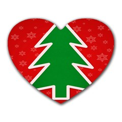 Christmas Tree Heart Mousepads by Nexatart
