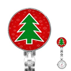 Christmas Tree Stainless Steel Nurses Watch