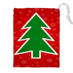 Christmas Tree Drawstring Pouches (xxl) by Nexatart