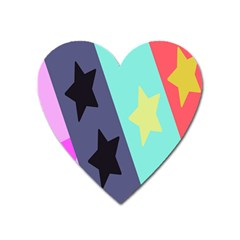 Cool Star Flag Heart Magnet by Jojostore