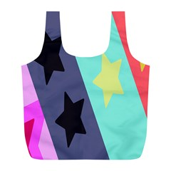 Cool Star Flag Full Print Recycle Bags (l)  by Jojostore