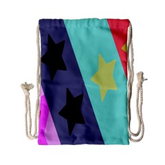 Cool Star Flag Drawstring Bag (small) by Jojostore