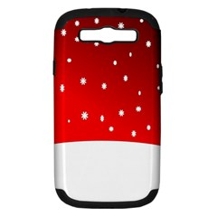 Christmas Background  Samsung Galaxy S Iii Hardshell Case (pc+silicone) by Nexatart