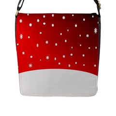 Christmas Background  Flap Messenger Bag (l)  by Nexatart