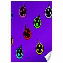 Christmas Baubles Canvas 20  X 30   by Nexatart