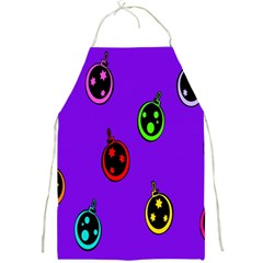 Christmas Baubles Full Print Aprons by Nexatart