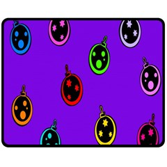 Christmas Baubles Fleece Blanket (medium)  by Nexatart